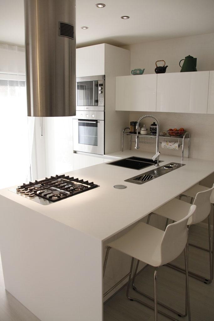 Cucina penisola bianco lucido - Cucina penisola ikea ...