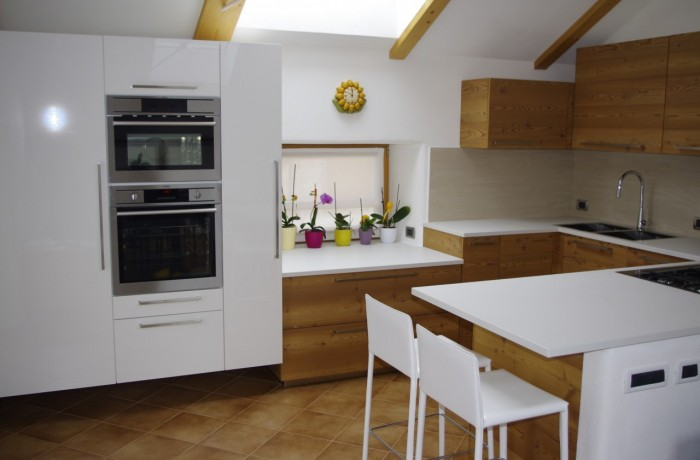 Cucina rustica e moderna